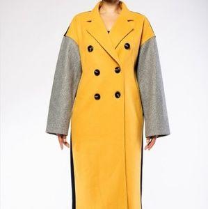 'Wynter' Oversized Color Block Coat